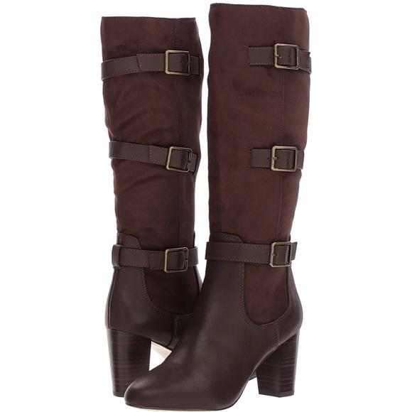 cf9bb63c75b Bella Vita Knee High Talina II Brown Harness Boot